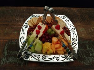 LIfestream's Fruit & Cheese platter